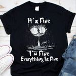 Cat it's fine i'm fine everything fine shirt
