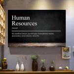 Human resources defination poster canvas