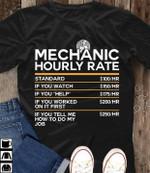 Mechanic hourly rate shirt