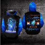 Autism mom love someone with autism to the moon and back hoodie