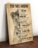 To My Mum Loving Mother I Love You You Are The World Poster