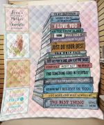 To My Daughter I Love You Just Do Your Best I Believe In You Love Mom Family Blanket