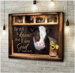 Be Still & Know That I Am God Psalm 46:10 Famer Poster
