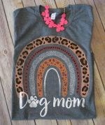 Dog Mom Leopard Rainbow Shirt
