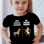 Your Regular Grandma My Swedish Mormor Horse Unicorn T-Shirt