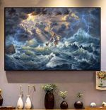 Jesus Save A Man On Ocean God Savior Poster
