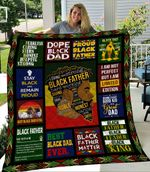 Throw Black Father Hard-Working Blanket