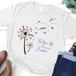 When life gets complicated i wine dandelion shirt