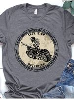 Sweat dries blood clots bones heal only the strongest old women ride motorcycles suck it up buttercup t-shirt
