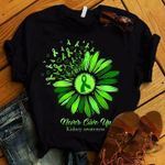 Never give up kidney support tshirt