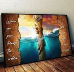 When you pass through the water I will be with you Isaiah poster