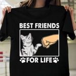 Cat best friends for life paw shirt