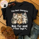 The best therapist has fur and four legs tshirt