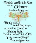 twinkle twinkle little star up in heaven is where you are dragonfly poster