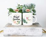 Mothers Day Gift Flower Watercolor Blessed Grandma Mothers Day Personalized