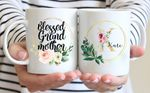 Mothers Day Gift Flower Watercolor Blessed Grandmother Mothers Day Personalized