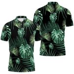Tropical Seamless Pattern With Jungle Night Garden Leaves Anitas And Bellas Black 1