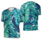 Tropical Seamless Pattern With Tropical Jungle Palm Leaves White