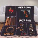 Melanin poppin dreadlock afro hair girl