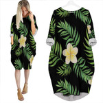 Watercolor Seamless Pattern With Tropical Leaves Plumery Black