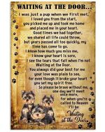 Dog Poster Yorkshire Terrier Wait At The Door I'll Be Waiting At The Door Poster