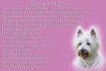 West Highland White Terrier Westie Memorial Fridge Magnet pet poster