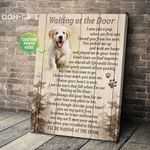 Waiting at the door I was just a pup when we first met dog personalized poster