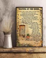 Pug Wait At The Door I'll Be Waiting At The Door Dog Poster