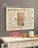 Golden Retriever Wait At The Door I'll Be Waiting At The Door Personalized Poster