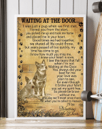 Heeler Australian Cattle Dog Memorial Poster Canvas Wait At The Door I'll Be Waiting At The Door Vintage Poster Canvas