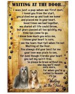 Dog Poster Lhasa apso Wait At The Door I'll Be Waiting At The Door Poster
