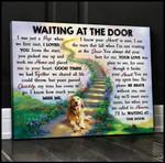 Waiting At The Door Golden Retriever Wall Art Canvas