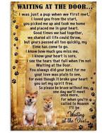 Dog Poster Shiba Inu Wait At The Door I'll Be Waiting At The Door Poster