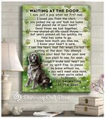 Black Golden Retriever Wait At The Door I'll Be Waiting At The Door poster