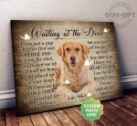 Waiting at the door I was just a pup when we first met Golden Retriever dog personalized poster