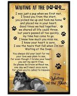 Dog Poster Sheltie Wait At The Door I'll Be Waiting At The Door Dog poster