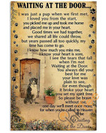 Waiting At The Door Bernese Mountain Dog Poster