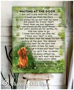 Dachshund Dog Memory Poster Canvas Wait At The Door I'll Be Waiting At The Door Wall Art Wall Decor