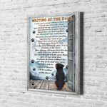 Rottweiler Dog Wait At The Door I'll Be Waiting At The Door Canvas Poster