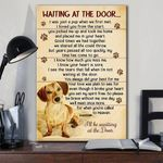 Gift for Loves Dachshund Dog Prints Wait At The Door I'll Be Waiting At The Door Gifts poster