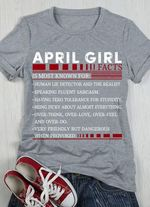 April girl facts is most known for human lie detector and the realist tshirt