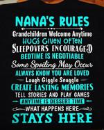 Nana's rules grandchildren welcome anytime hugs given often tshirt