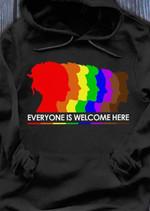 Lgbt flag everyone is welcome here hoodie