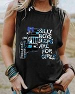 Silly boys jeeps are for girls tanktop