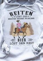 Reiten Lost Die meisten meiner probleme bier lost den rest t-shirt