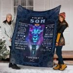 To my son never forger that I love you quilt