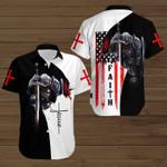 Faith Knight Fighting Flag 3D t-shirt