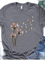 Pitbull Heracleum Flower Dog Lover T-shirt