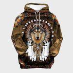 wolf hoodie 3D tribal