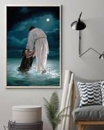 Jesus the savior photo design poster canvas